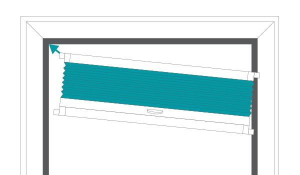 Easy to install bifold door blinds