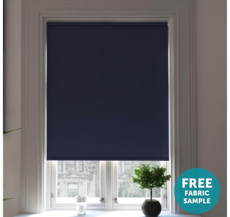 Oxford Blue Blackout Roller Blind